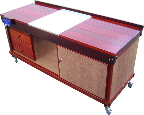 DUAL PURPOSE MOBILE WORKBENCH WITH LOCKING STORAGE