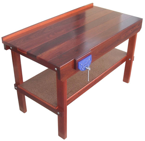 All Jarrah Kit Form workbench oil finished
